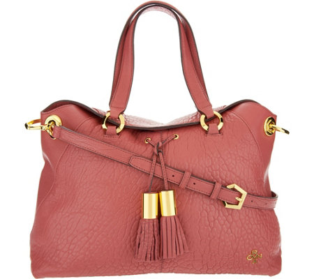 """As Is"" orYANY Lamb Leather Satchel Bag - Kristen"