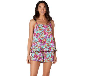 fcdb44f3fbe87 Fit 4 U Ruffle Cami Tankini Swimsuit with Short - A304229