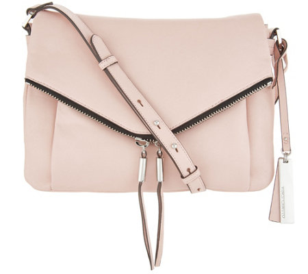 3c0f42928bff Vince Camuto Leather Crossbody Bag -Alder - Page 1 — QVC.com