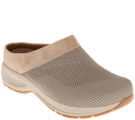 f08dcddc957c Dansko Suede and Knit Slip-On Clogs - Sondra - Page 1 — QVC.com