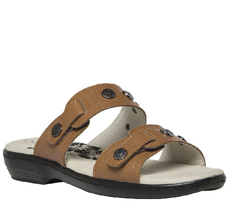 Propet Leather Double Adj. Strap Sandals - Roni