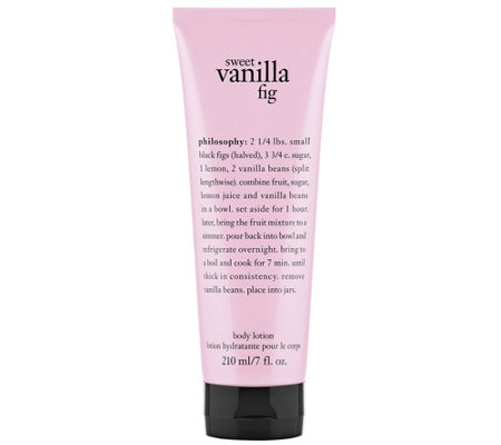 philosophy sweet vanilla fig body lotion 7 oz