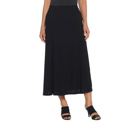 Linea by Louis Dell'Olio Regular Moss Crepe Pull-On Maxi Skirt