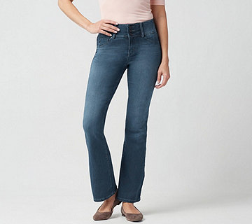"Laurie Felt Curve Silky Denim Boot-Cut Jeans - ""Medium"" - A346629"