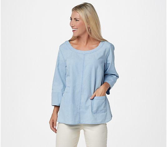 Joan Rivers Lightweight Denim Top