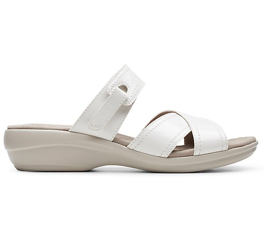 Clarks Collection Leather Slide Sandals - Alexis Art