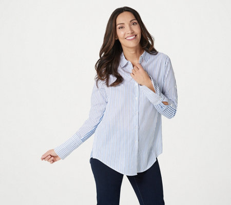 Attitudes by Renee Parisian Button-Down Shirt
