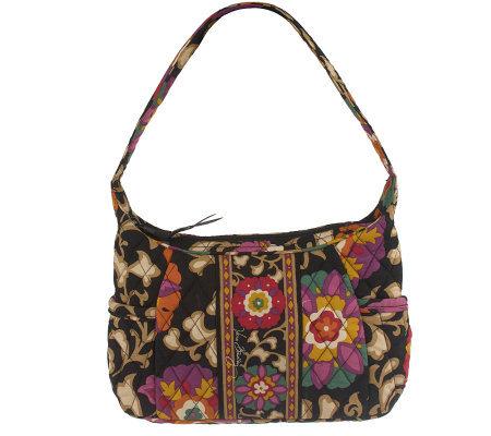 Vera Bradley Signature Print Sophie Shoulder Bag W Side Pockets
