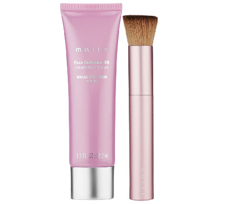Mally Face Defender BB Cream SPF 15 Foundation with Brush