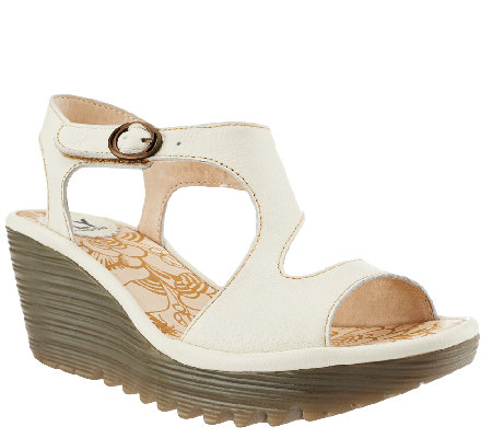 e93fa32059aae FLY London Open-toe Wedge Sandals w  Adj. Ankle Strap - Yanca - Page ...