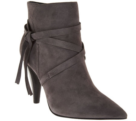 Marc Fisher Suede Pointed Toe Ankle Boots - Fanatic