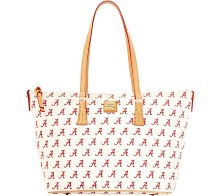 Dooney & Bourke NCAA University of Alabama Zip Top Shopper