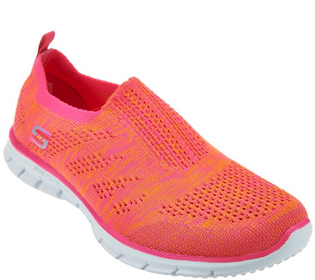 """As Is"" Skechers Flat Knit Slip-On Sneakers - Stunner"