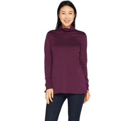 Isaac Mizrahi Live! Essentials Pima Cotton Turtleneck