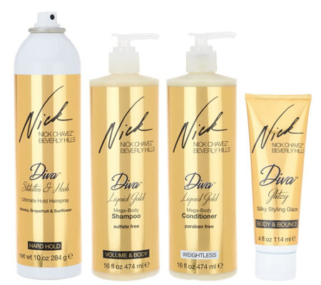 Nick Chavez Diva Glitzy 4 pc. Cleanse and Style Kit