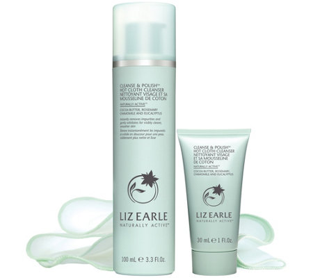 Liz Earle Cleanse Polish Home Away Set W 3 Cotton Cloths