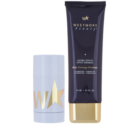 Westmore Beauty Body Coverage Perfector & Exfoliating Stick Duo