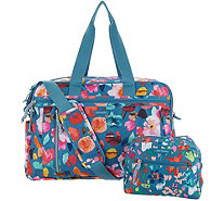 Vera Bradley Lighten Up Weekender Travel Bag w/ Cosmetic Case - A308630