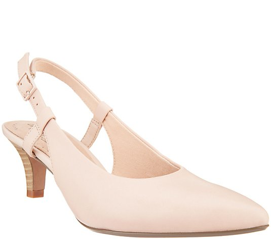 Clarks Collection Leather Slingback Pumps - Linvale Loop