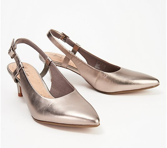 Clarks Collection Leather Pumps - Linvale Loop