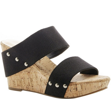 Sole Society Platform Wedge Sandals - Emillia