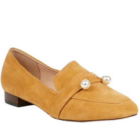 Sole Society Pearl Leather Loafers - Caspar