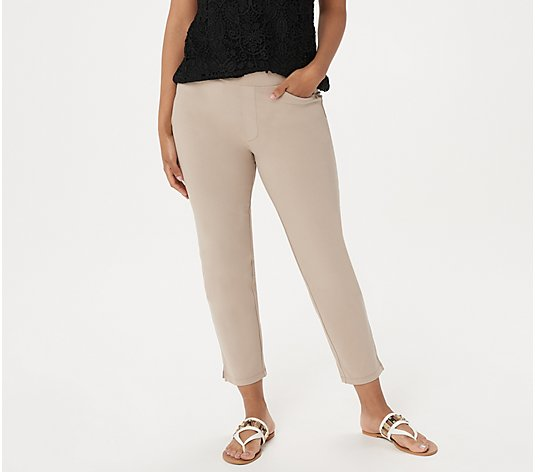 """As Is"" Susan Graver Petite Weekend Premium Stretch Crop Pants"