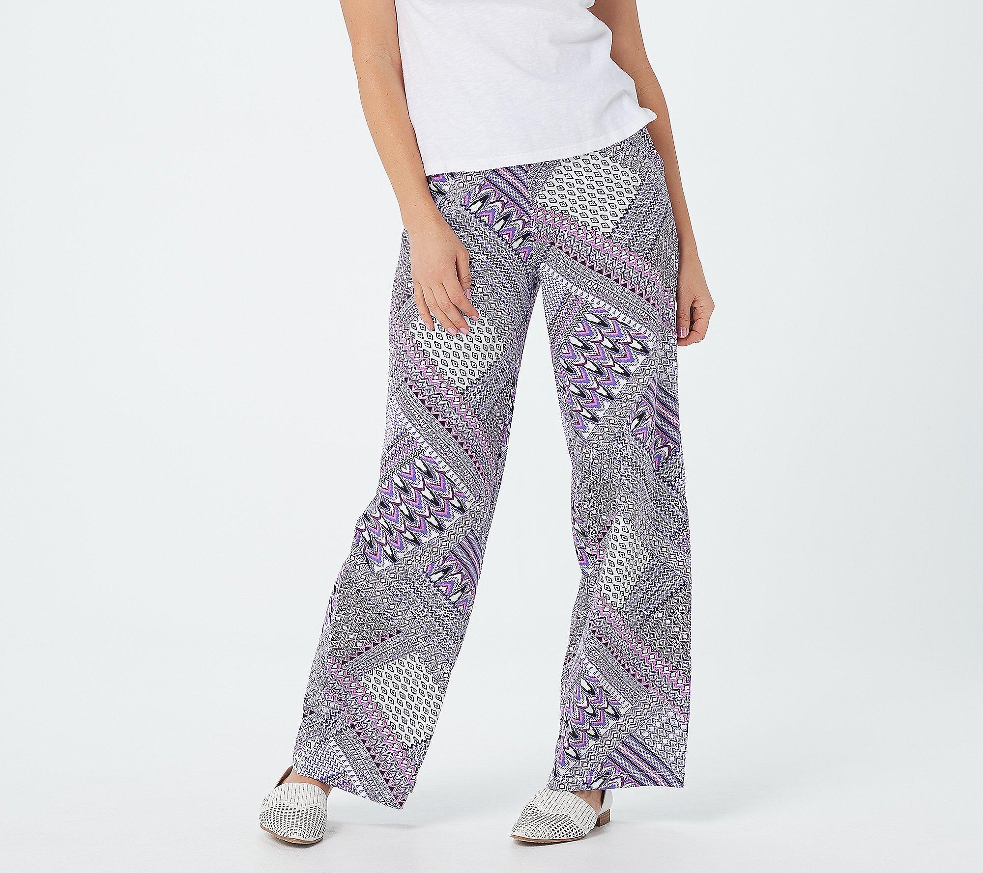 Purple Hanger Womens Plus Size Black Plain Stretch Wide Long Palazzo Pants