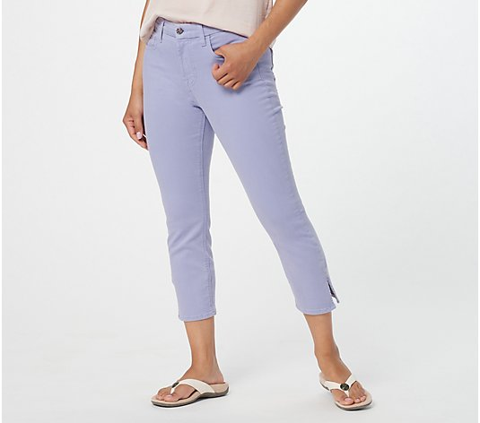 Jen7 by 7 for All Mankind Capri w/ Side Slits- Orchid