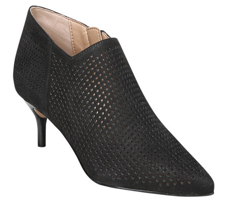 Franco Sarto Perforated Kitten Heel Booties - Deepa2