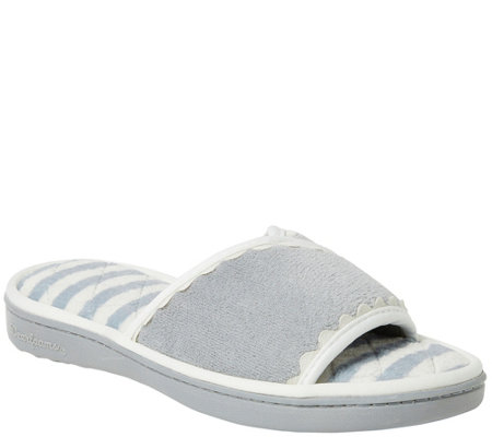 Dearfoams Women's Microfiber Terry Slide Slippers