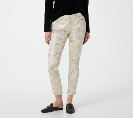 JEN7 by 7 For All Mankind  Printed Ankle SkinnyJeans