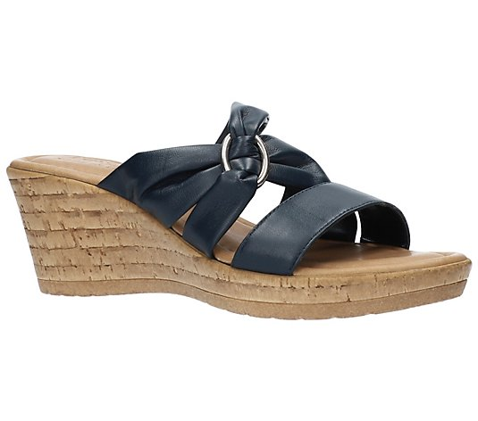 Tuscany By Easy Street Italian Wedge Sandals -Guiliana