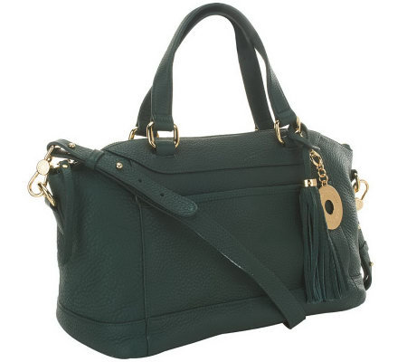 Isaac Mizrahi Live! Bridgehampton Leather Satchel
