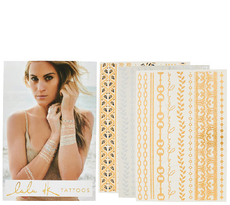 Lulu DK Set of 3 Temporary Tattoos