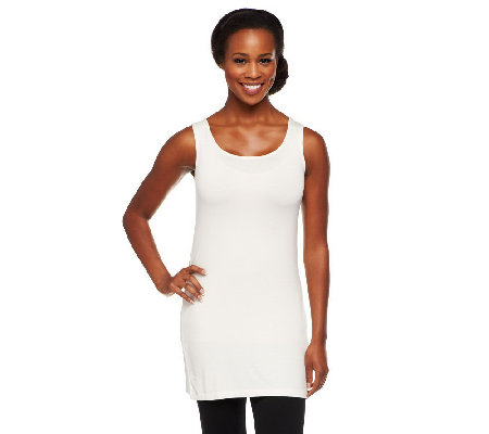 """As Is"" LOGO Layers by Lori Goldstein Petite Straight Hem Knit Tank"