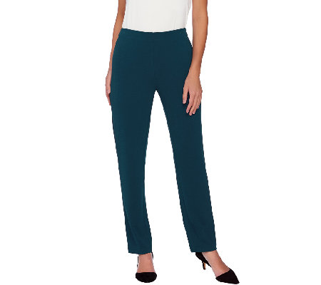 Susan Graver Passport Knit Hollywood Waist Pull-On Pants