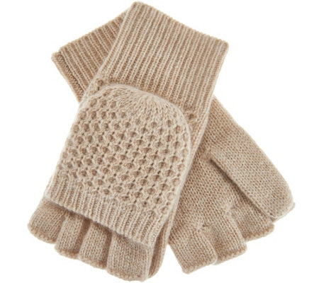 Isaac Mizrahi Live! 2-Ply Cashmere Convertible Gloves