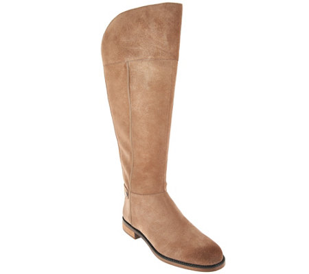 Franco Sarto Suede Wide Calf Tall Shaft Boots - Christine