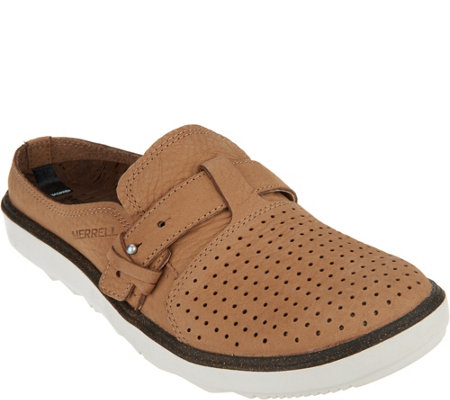 Merrell Perforated Leather Slip-On Shoes - Around Town A