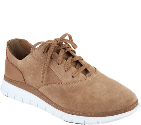 Vionic Suede Lace-up Casual Sneakers - Taylor