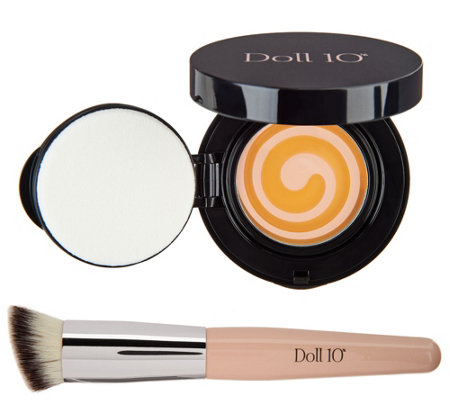 Doll 10 HydraBalm Swirled Serum Foundation with Brush