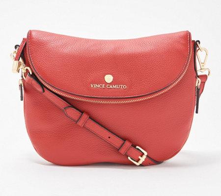 be2bbf909321 Vince Camuto Leather Crossbody Handbag - Rizo - Page 1 — QVC.com
