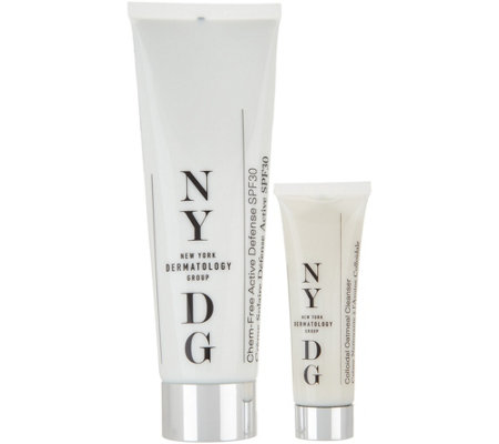 NYDG Skincare Active Defense SPF 30 Cream with Travel Cleanser
