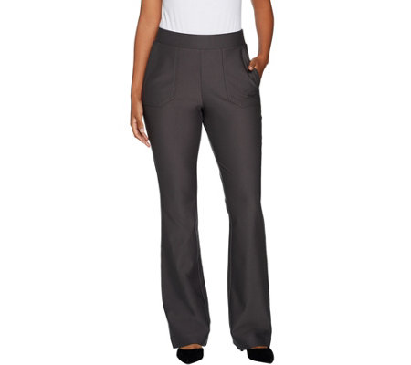 """As Is"" Lisa Rinna Collection Pull On Boot Cut Pants"