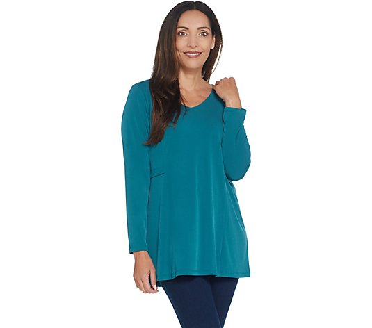 Susan Graver Modern Essentials Liquid Knit Long Sleeve Top