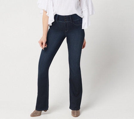 Laurie Felt Curve Silky Denim Boot-Cut Jeans