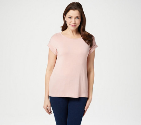 Lisa Rinna Collection Pleated Back Tee