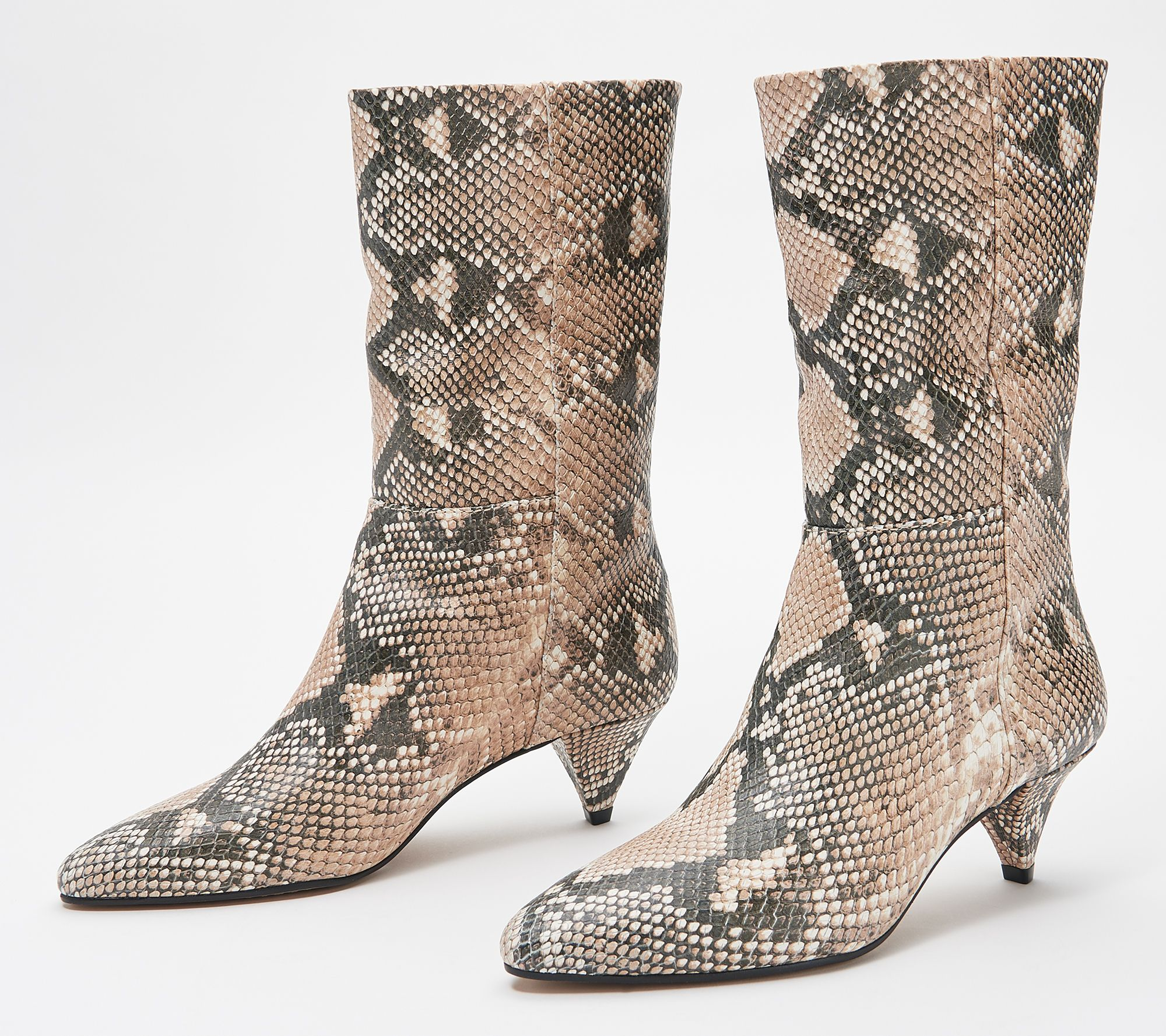 Vince Camuto Rastel Leather Suede Cone-Heel Women/'s Boot
