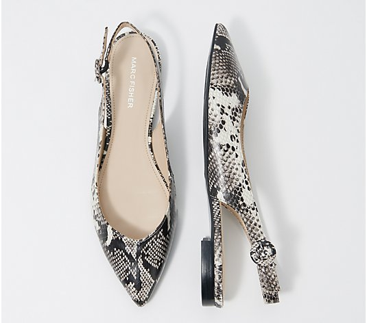 Marc Fisher Pointy Toe Slingback Flats - Anson